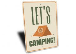 Lets Go Camping Sign - Camping signs - Stitch & Simon