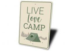 Live Love Camp Sign - Stitch & Simon