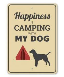 Camping with My Dog Sign - Camping Signs - Stitch & Simon