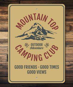 Mountain Top Camping Club Sign - Stitch & Simon