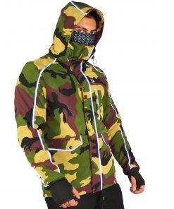 COOL CAMO DEFENDER X  COMMUTER JACKET CAMO - Camouflage - Stitch & Simon