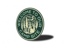 Camp Site Welcome Sign - Camping Signs - Stitch & Simon