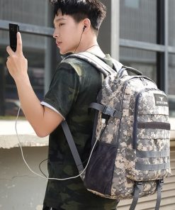 50L Multi-Purpose Hiking, Military, Tactical, Travel,Camping,Student, USB Charging, Backpack - Stitch & Simon