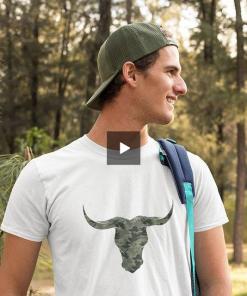 Mens Camouflage Bull T-shirt by Stitch & Simon - Stitch & Simon
