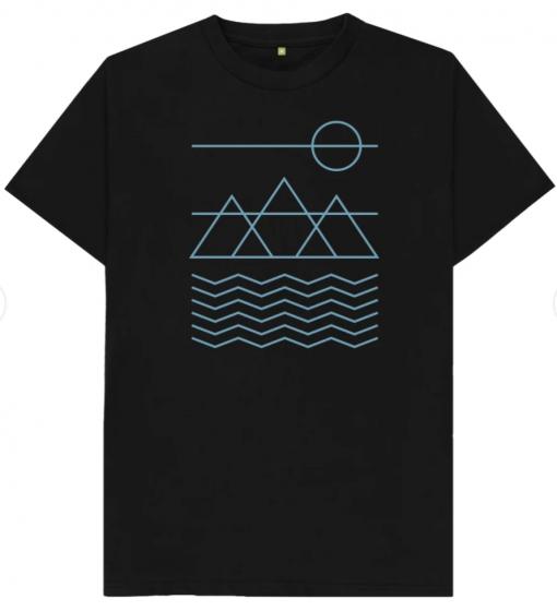 Black T-Shirt Nature Camping