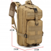 Hiking Camping Walking Army Sport Travel Outdoor Rucksack 3P Army Military 30L Tactical Backpack - Stitch & Simon
