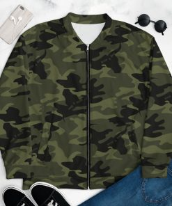 Mens Camo Bomber Green Camouflage