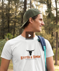 Mens White Stitch & Simon T-Shirts - Outdoor Clothing Ideal For Camping, Hiking, Sports and Outdoors - Stitch & Simon