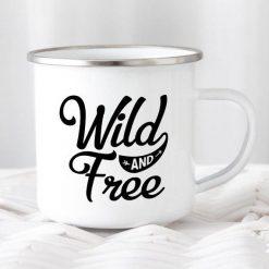 Camping Mug Enamel Mug Campfire Mug Wild and Free - Stitch & Simon