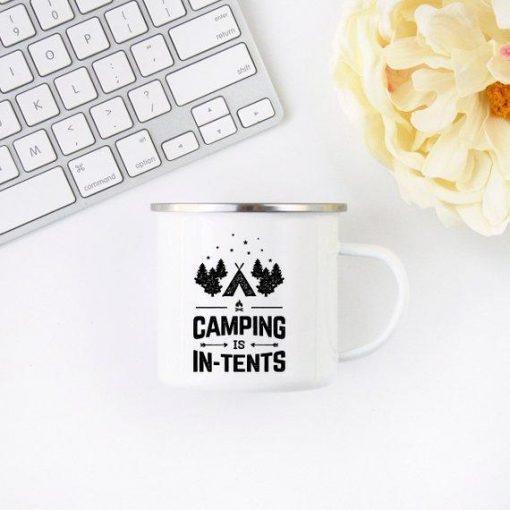 Camping Mug Enamel Mug Campfire Mug Camping is - Stitch & Simon