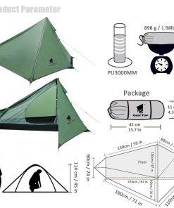 Ultralight Camping Tent One Person 3 Season Waterproof 950g - Stitch & Simon