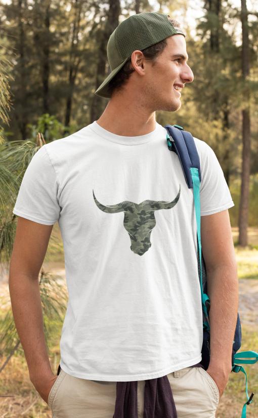 Camouflage Bulls Head T-Shirt Organic Cotton