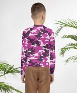 Rash Vest Purple Camo Design